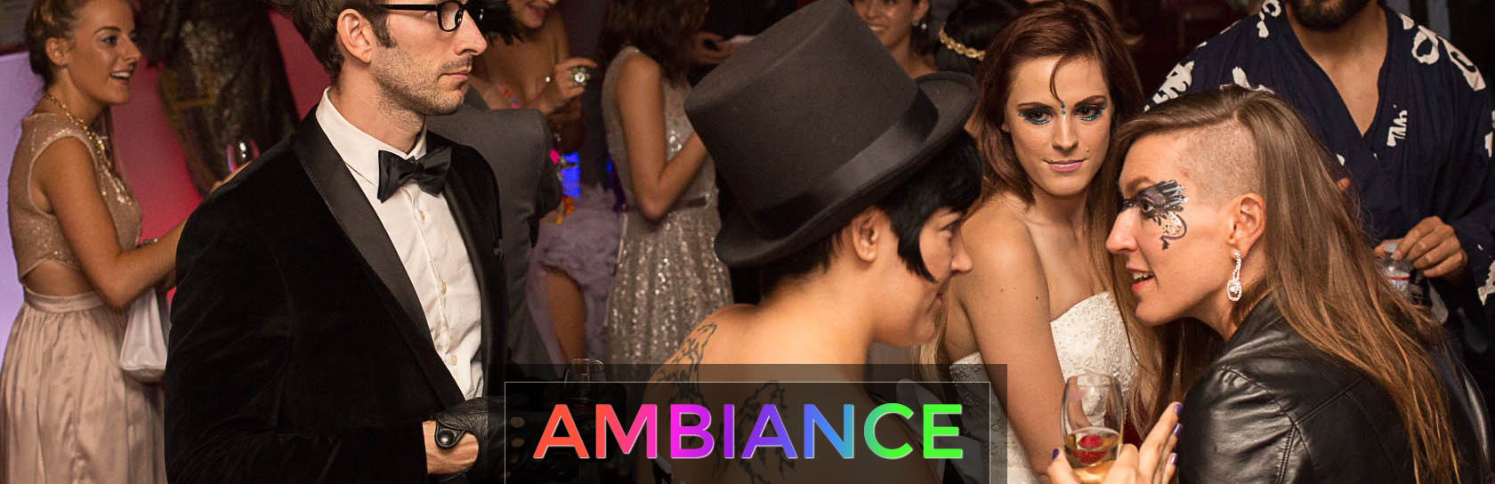 party ambiance, djs, and live decor by artistic la